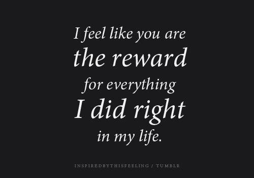 reward for everything right